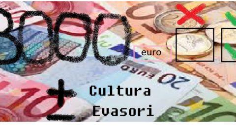 l'evasione non dipende dal contante, ma da una cultura mancante