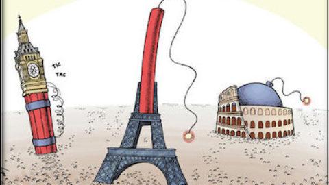 La morte come notizia giornaliera del terrorismo.