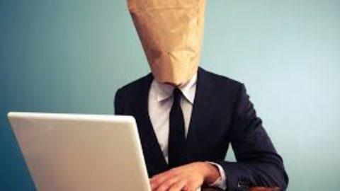 I rischi dell'anonimato online